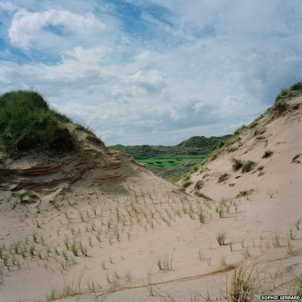 The golf course through the dunes