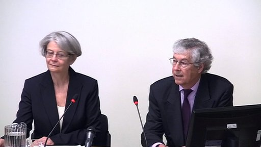 Professor James Curran and Angela Phillips