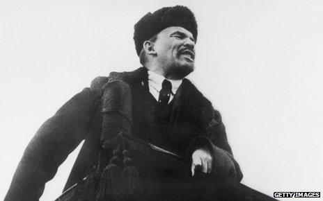 Lenin addressing masses