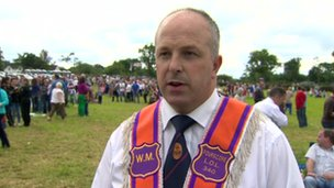 Crumlin Orange Order spokesman James Tinsley