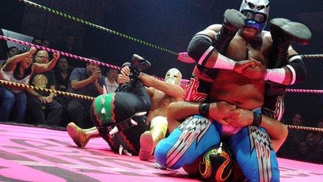 Wrestlers of Lucha Va Voom, LA