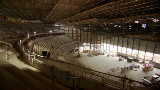 Interior of Leeds Arena