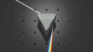White light and prism