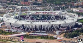 Olympic Stadium in Stratford, east London
