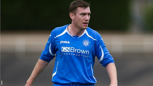 Paddy Cregg in action for St Johnstone in a pre-season friendly