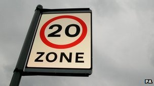 20mph sign