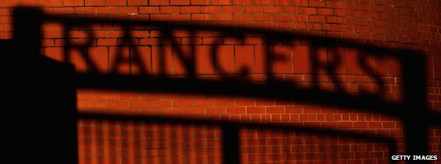 Glasgow Rangers shadow sign