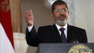 Mohammed Mursi, Cairo, 13 July