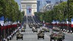 Military parade on the Champs Elysees in Paris, 14 July 2012