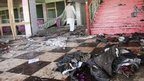 Aftermath of bomb which killed Ahmad Khan Samangani 14 July 2012