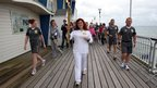 Mariam Kazem-Malaki carrying the Olympic flame