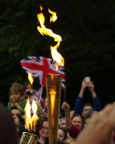 The Olympic flame in Southampton
