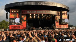Hard Rock Calling stage in London's Hyde Park