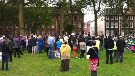 Rally in Queen Square before the Peace Walk