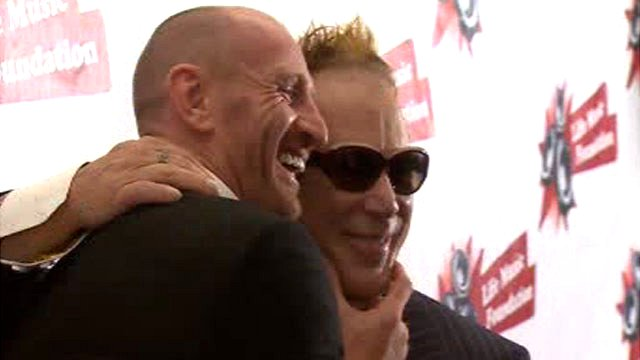 Gareth Thomas and Mickey Rourke