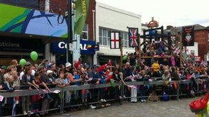 Fareham waits for the torch