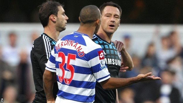 John Terry and Anton Ferdinand clash at Loftus Road