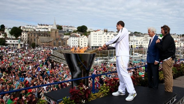Olympic flame in Guernsey