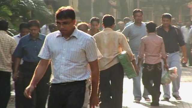 Pedestrians in Mumbai, India