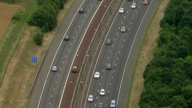Traffic on M4 motorway