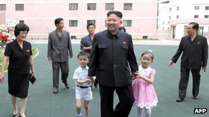 Kim Jong-un visiting Kyongsang kindergarten in Pyongyang