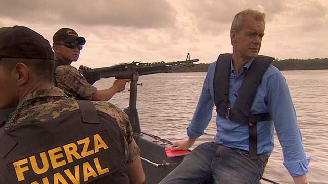 Stephen Sackur with the Navy Patrol