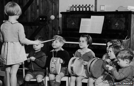 Children at a nursery school in 1942