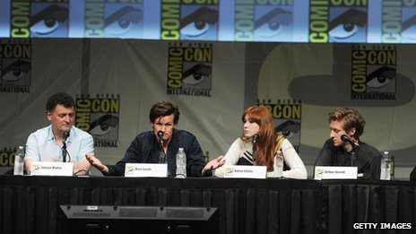 Steven Moffat, Matt Smith, Karen Gillan and Arthur Darvill