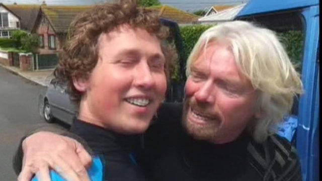 David Ursell with Richard Branson