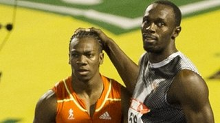 Yohan Blake and Usain Bolt