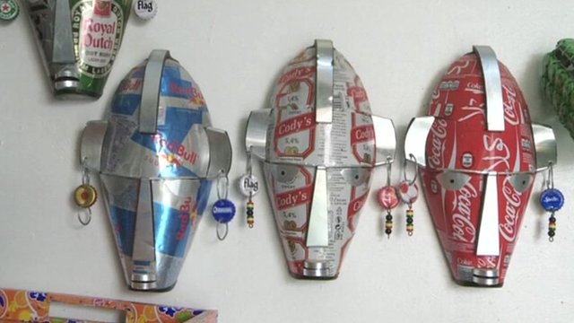 Masks made of can