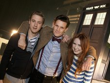 Arthur Darvill, Matt Smith and Karen Gillan