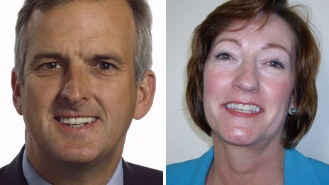 Robert Evans and Julie Iles