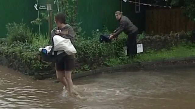 Flooding victims