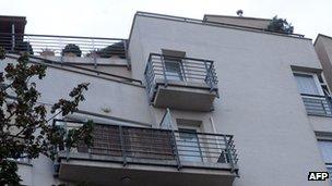 Apartment block in Budapest allegedly where  Laszlo Csizsik-Csatary lives
