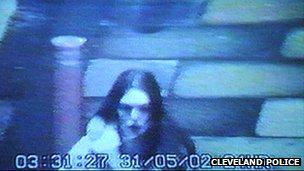 CCTV of Rachel Wilson in May 2002
