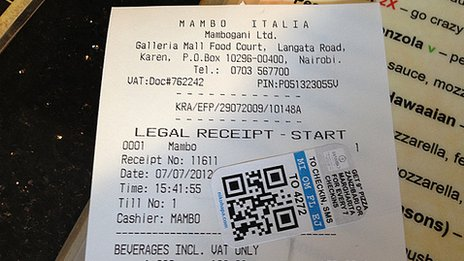 Till receipt with NikoHapa sticker