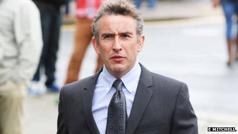 Steve Coogan arriving at Brighton Magistrates' Court