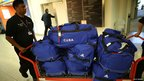 Cuban weightlifters' bags