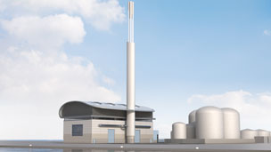 Artist's impression of the proposed plant
