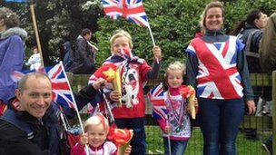 The White family look very patriotic!