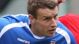 Bangor City forward Les Davies