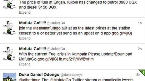 MafutaGo twitter stream
