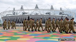 Soldiers at the Olympics site