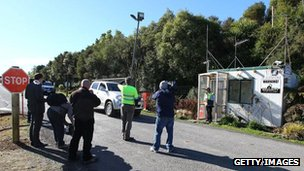 Newmont Waihi gold mine where 28 miners were trapped underground by a fire on 17 July, 2012 in Waihi, New Zealand