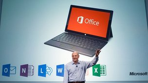 Microsoft chief executive Steve Ballmer launches Office
