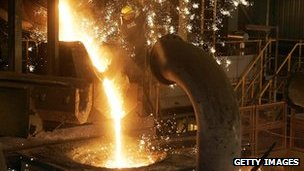 Steel smelting at Rio Tinto