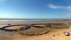 Olympic rings Crosby beach