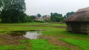 Waterlogged village green - Priddy Parish Council