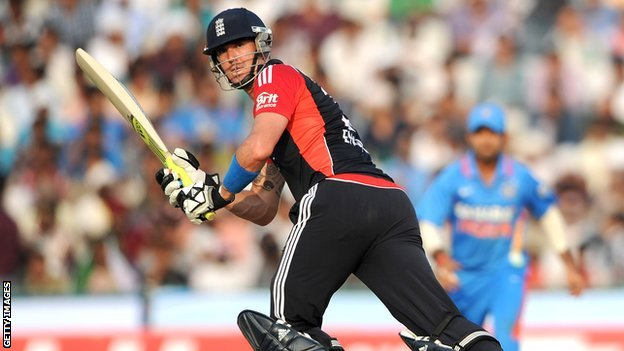 Kevin Pietersen playing limited-over cricket for England